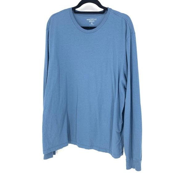 J.Crew Mercantile Mens Long-Sleeve Twisted Rib Crewneck T-Shirt